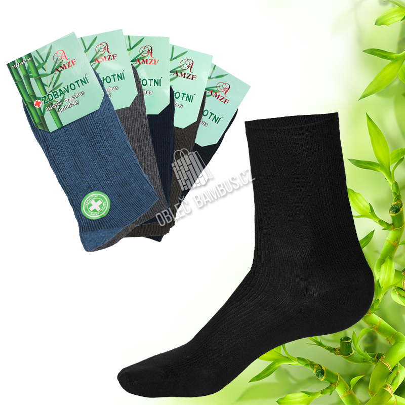 222dca1bd8e Dámské zdravotní bambusové ponožky AMZF 5 párů - mix