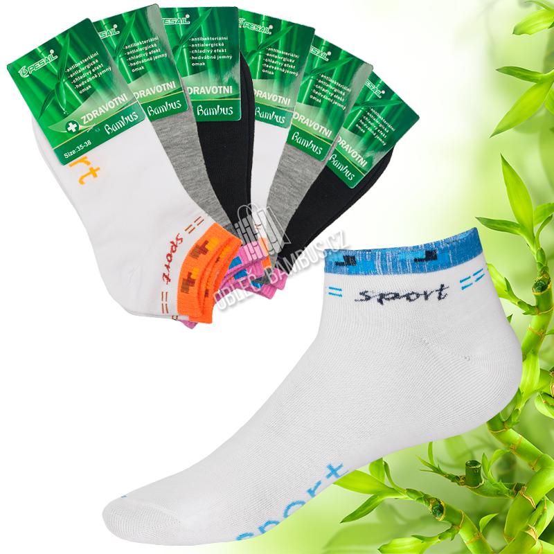 6b7b43e8249 Dámské kotníkové bambusové ponožky PESAIL Sport - bambusové oblečení