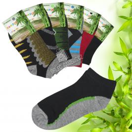 Klučičí kotníkové bambusové ponožky PESAIL 3 páry
