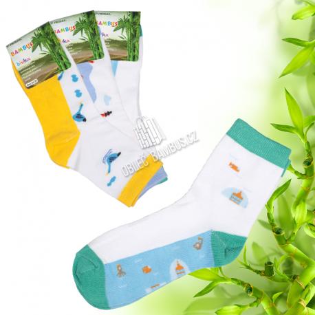 Holčičí klasické bambusové ponožky PESAIL 3 páry
