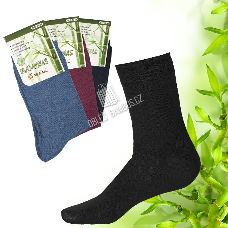 b620c3680d3 Dámské klasické bambusové ponožky PESAIL 3 páry - Mix