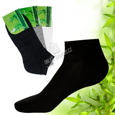 Bambusové kotníčkové ponožky 6 párů