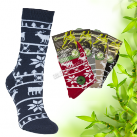 Dámské bambusové thermo ponožky Pesail 2 páry - vzory