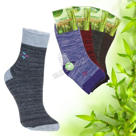 Dámské zdravotní bambusové thermo ponožky AMZF 3 páry
