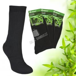 Pánské predĺženej bambusové ponožky PESAIL 3 páry - čierné