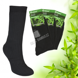Pánské prodloužené bambusové ponožky PESAIL 3 páry - černé