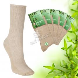 Pánské zdravotné bambusové ponožky PESAIL 5 parov - telové