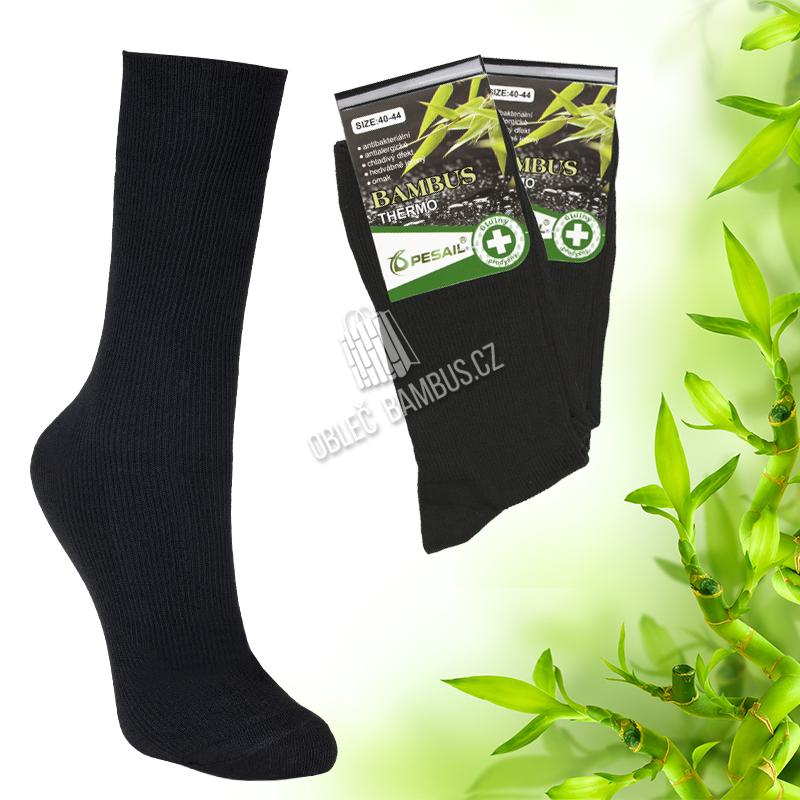 Pánské bambusové thermo ponožky Pesail 2 páry - černé 56cafdd052
