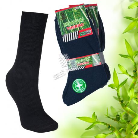 Pánské bambusové thermo ponožky AMZF 3 páry - mix