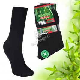 Pánské bambusové thermo ponožky AMZF 3 páry - černé
