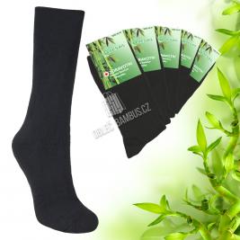 Pánske zdravotné bambusové ponožky PESAIL 5 parov - čierné