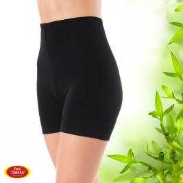 Bambusové kalhotky s nohavičkou černé 100 % bambusové vlákno Pani Teresa Medica