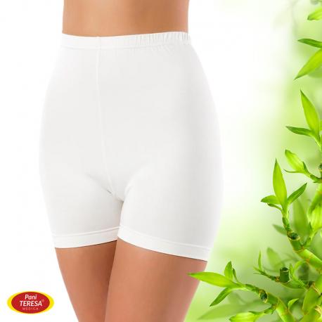Kalhotky s nohavičkou 100 % bambusové vlákno - bílé