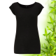 Dámské černé raglánové bambusové tričko Continental Clothing