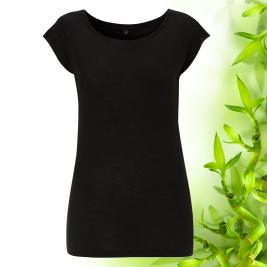 Dámske čierne bambusové tričko Continental Clothing