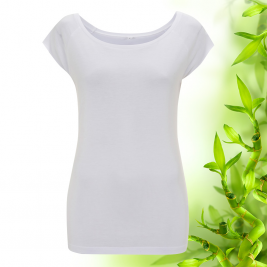 Dámské bílé raglánové bambusové tričko Continental Clothing