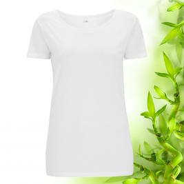 Dámske biele bambusové tričko Continental Clothing
