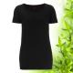 Dámské černé bambusové tričko Continental Clothing