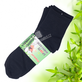 Dámské sportovní bambusové ponožky Ellasun 6 párů - černé
