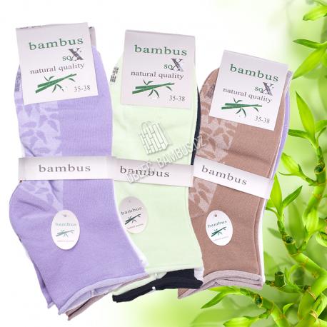 Dámské kotníkové bambusové ponožky SOXX - zdravotní lem