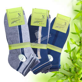 Pánské kotníkové bambusové ponožky SOXX - vzor Sport