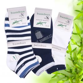 Dámské kotníkové bambusové ponožky SOXX - vzor Active