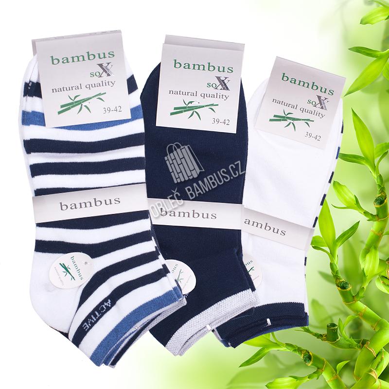 Dámské kotníkové bambusové ponožky SOXX - vzor Active a14533e64a