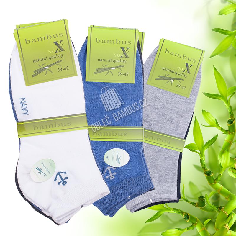 Pánské kotníkové bambusové ponožky SOXX - vzor Navy cdacba4155