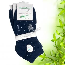 Dámské kotníkové bambusové ponožky SOXX - černé s puntíky