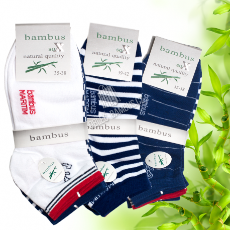Dámské kotníkové bambusové ponožky SOXX - vzor Marine