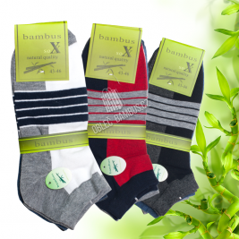 Pánské kotníkové bambusové ponožky SOXX - barevné vzory