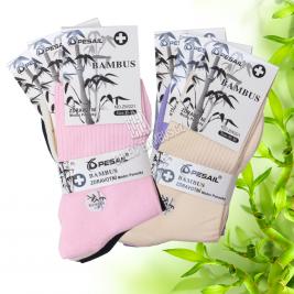 Dámské zdravotní bambusové ponožky PESAIL 3 páry - mix barev