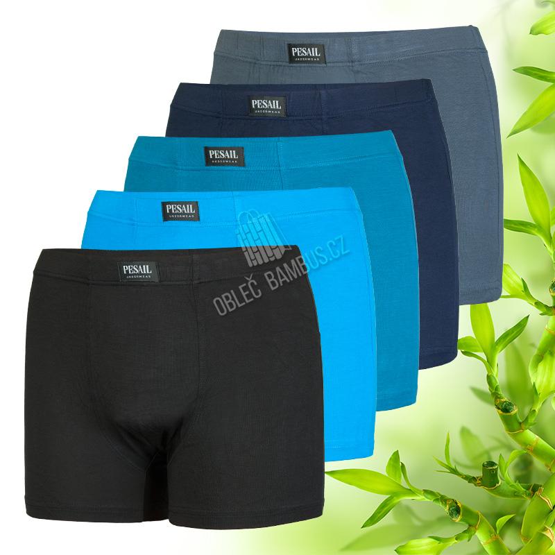 ba0db1f16 Bambusové boxerky Pesail jednobarevné 2 kusy - bambusové spodní prádlo