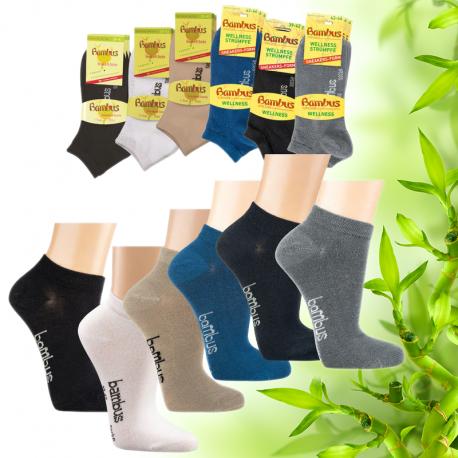 Dámské bambusové kotníkové ponožky Socks 4 fun