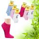 Dámské bambusové kotníkové ponožky Socks 4 fun barevné