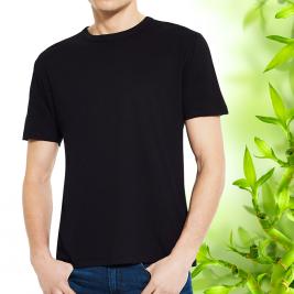 Pánské černé bambusové tričko Continental Clothing