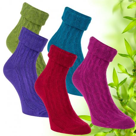 Dámské pletené bambusové ponožky Socks 4 fun