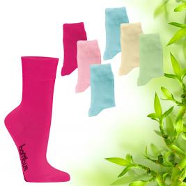 Dámské bambusové ponožky Socks 4 fun barevné